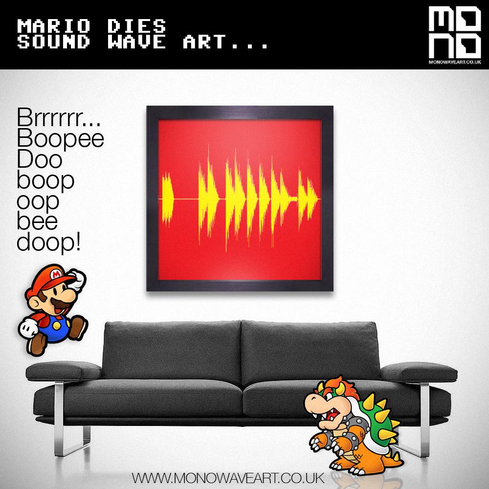 mario dies soundwave art
