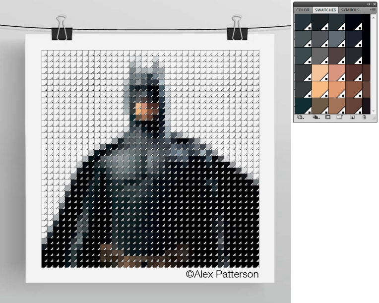 batman pantone swatch art
