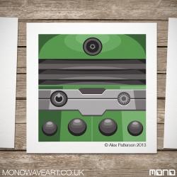 Green Dalek Illustration