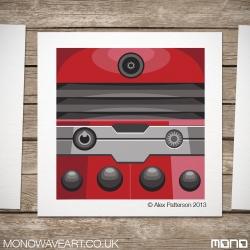 Red Dalek Illustration