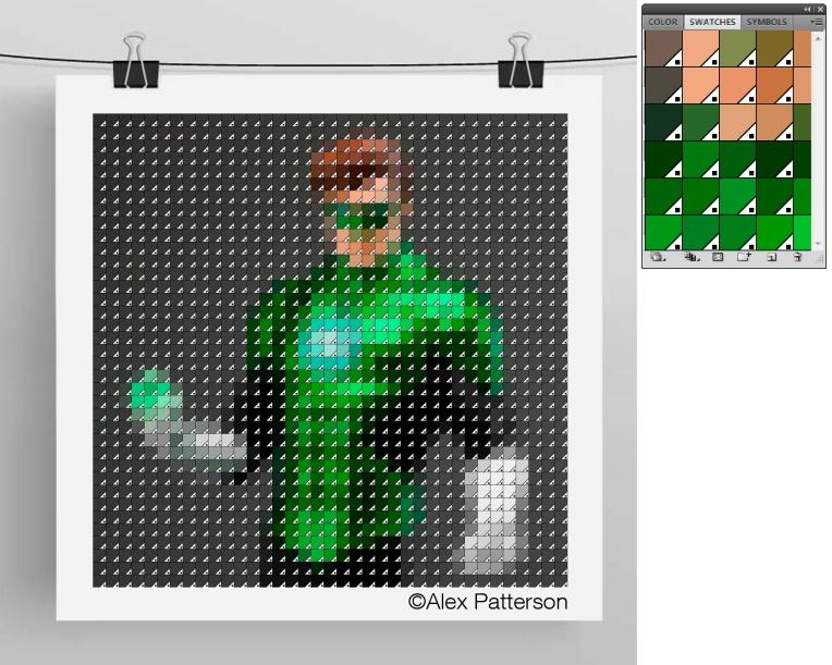 green lantern pantone swatch art