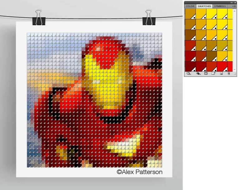 iron man panone swatch art