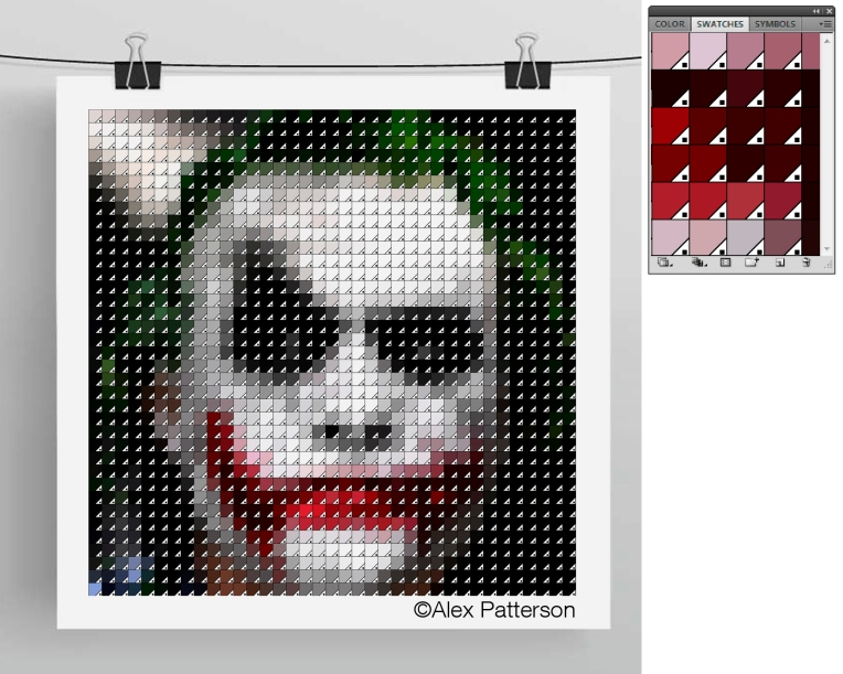 joker pantone swatch art