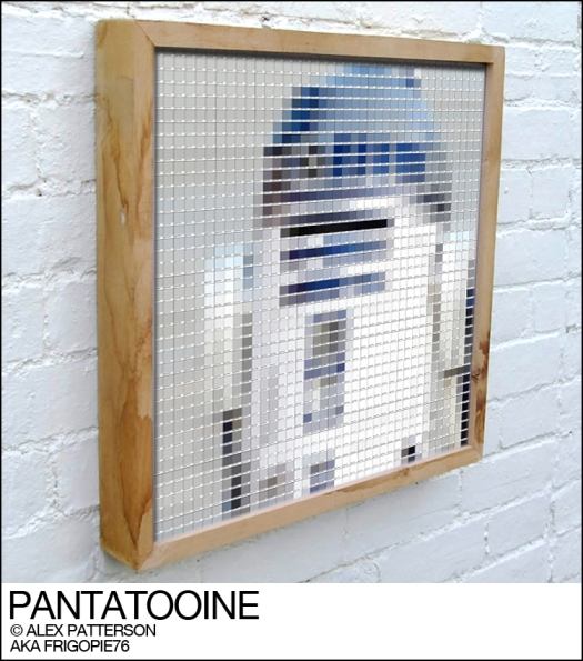 r2d2 pantone swatch art