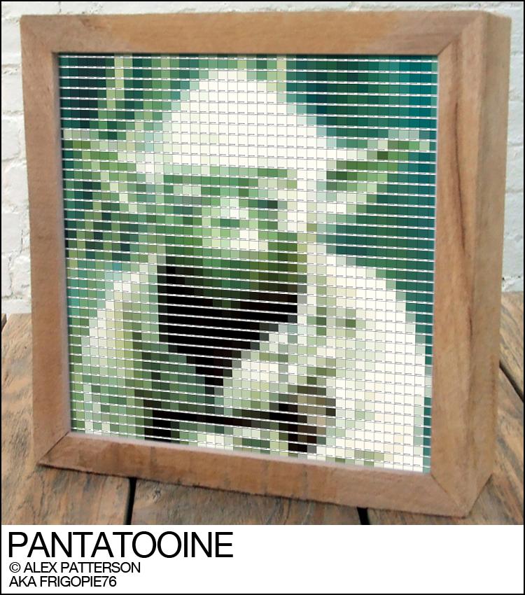 yoda pantone swatch art