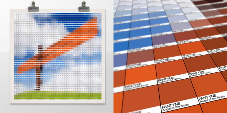 Angel of the North Pantone art by Alex Patterson