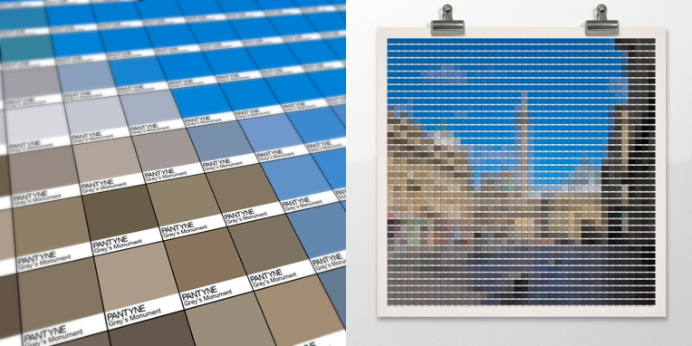 Grey's Monument Pantone art by Alex Patterson