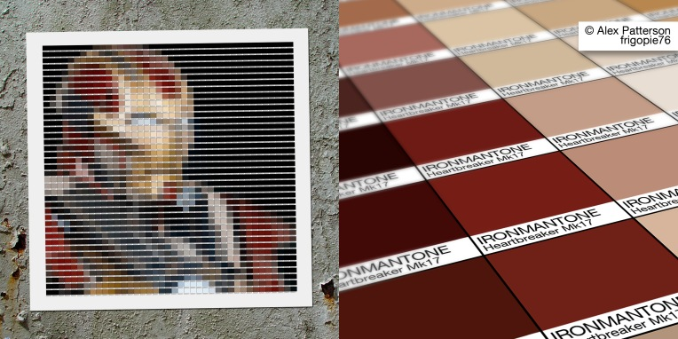 ironman mark 17 heartbreaker pantone art
