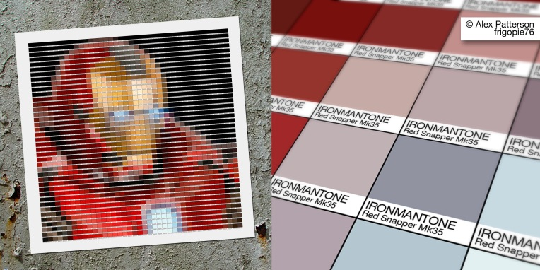 ironman mark 35 red snapper pantone art