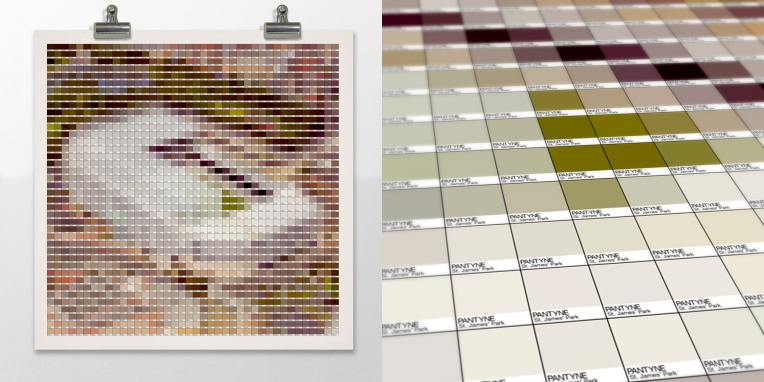 St. James' Park Pantone art by Alex Patterson