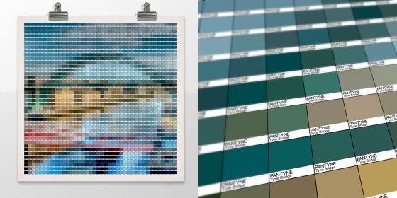Tyne Bridge Pantone art by Alex Patterson
