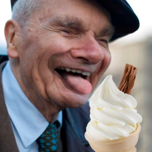 old man ice cream