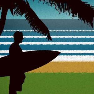 close up surfer art
