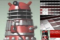 Red Dalek Pantone Art