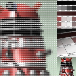Red Dalek Pantone Art