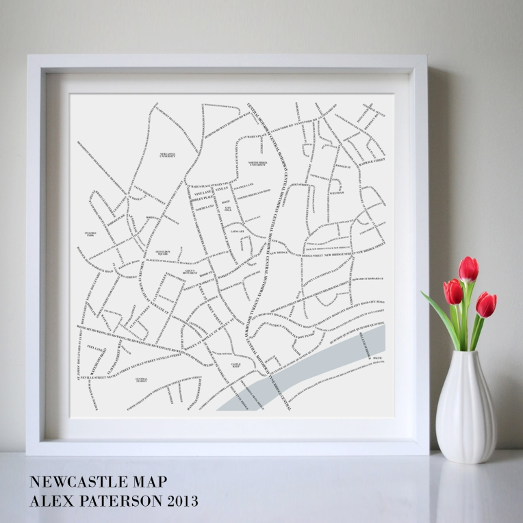 newcastle map in situ