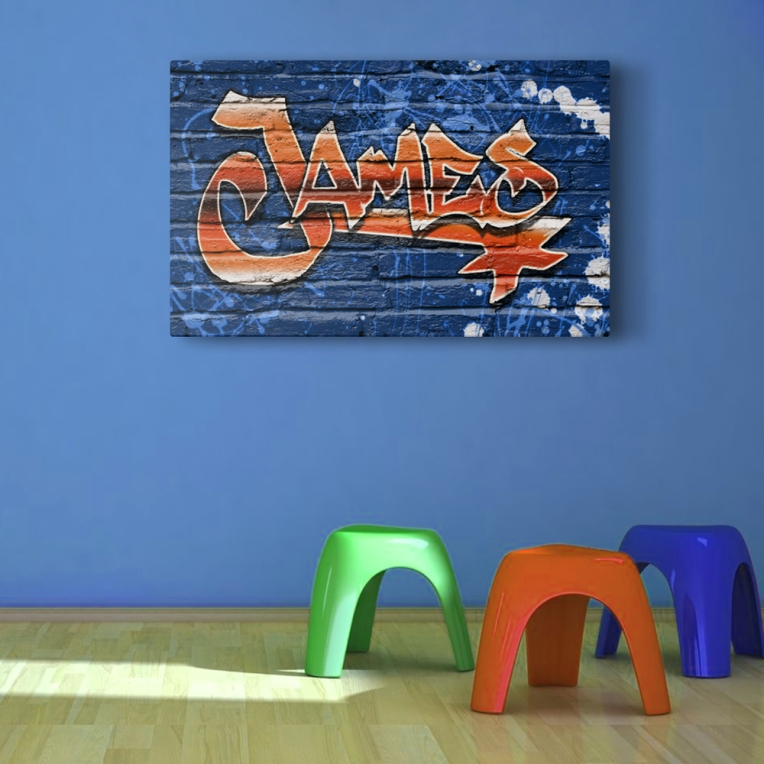custom graffiti room