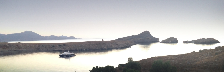 Serene Lindos sea scape