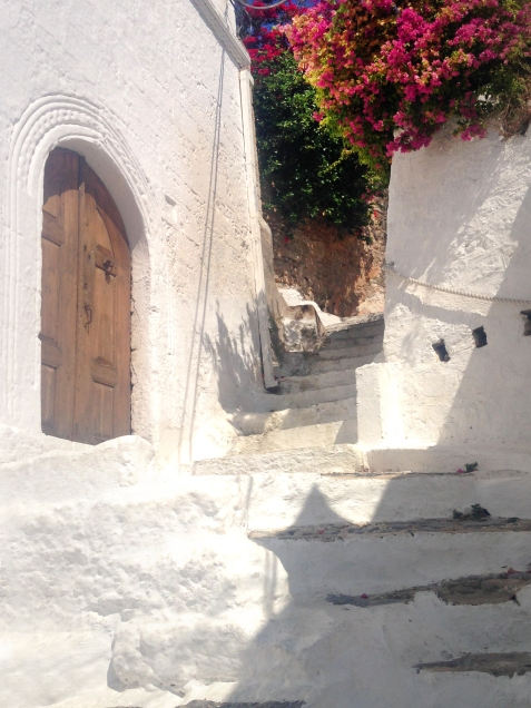 Winding Lindos steps