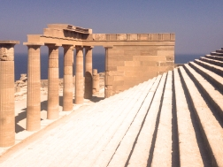 Acropolis pillars and steps