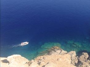Boat trip in crystal water