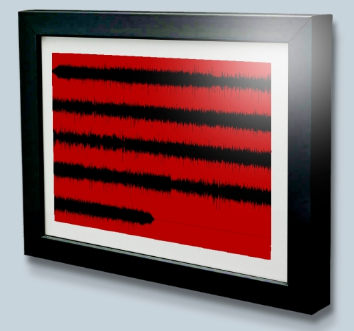 Multi Line Sound wave art print