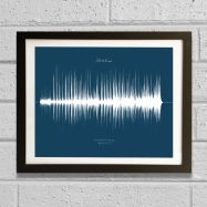soundwave art song framed 2