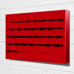 Multi Line Sound wave art canvas