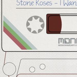 stone roses cassette print detail 2