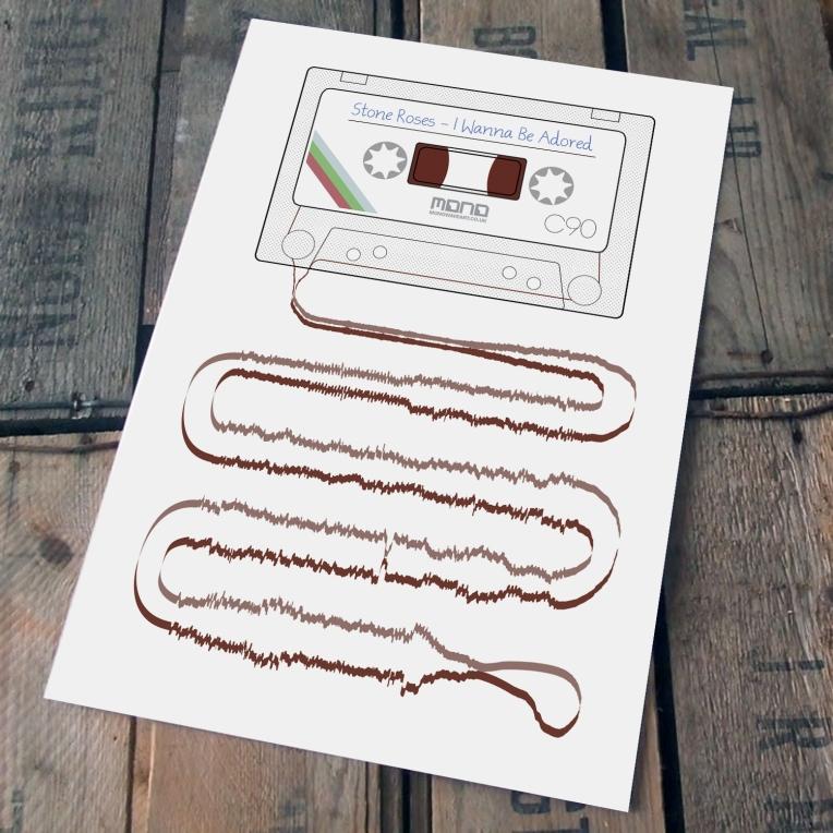 stone roses cassette print