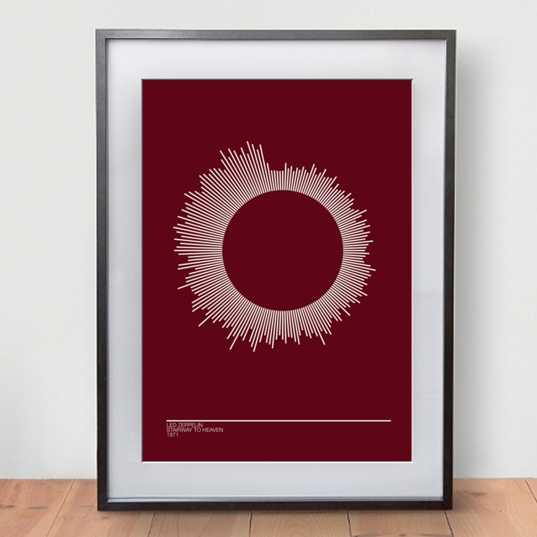 radial sound wave framed