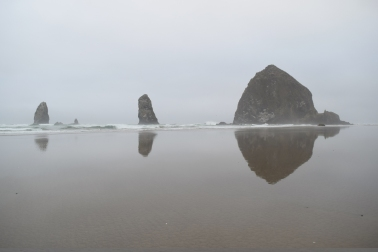 Reflection of Goonies Rock