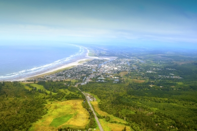 Oregon Coast from a Helicopter