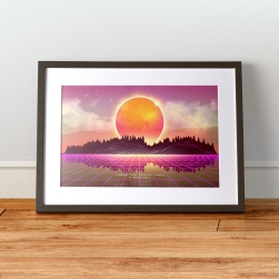 Synthwave Art in frame