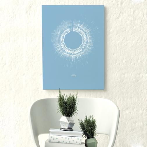 Close up hipster corner, mock up poster, 3d illustration