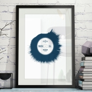 Vinyl Sound Waves Framed Wall Art