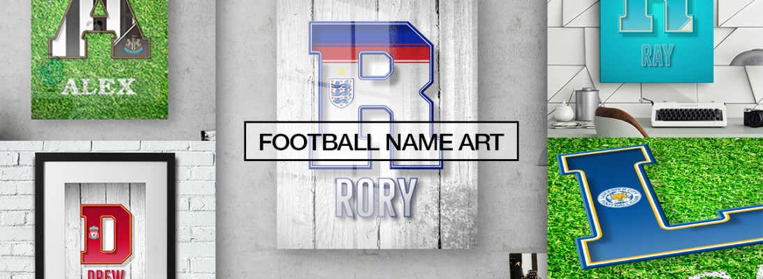 Personalised Football Name Art