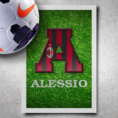 AC Milan Name Art