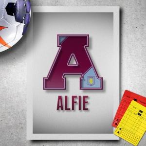 Aston Villa Name Art