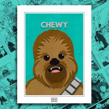 Fuzzy Felt Chewbacca Art