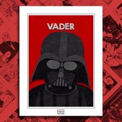 Darth Vader Fuzzy Felt Art