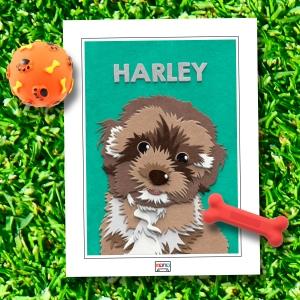 Cute Dog Fuzzy Paw-trait