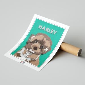 Fuzzy Dog Paw-trait