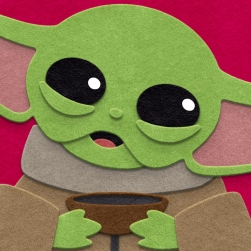 Grogu (Baby Yoda) Art Close Up