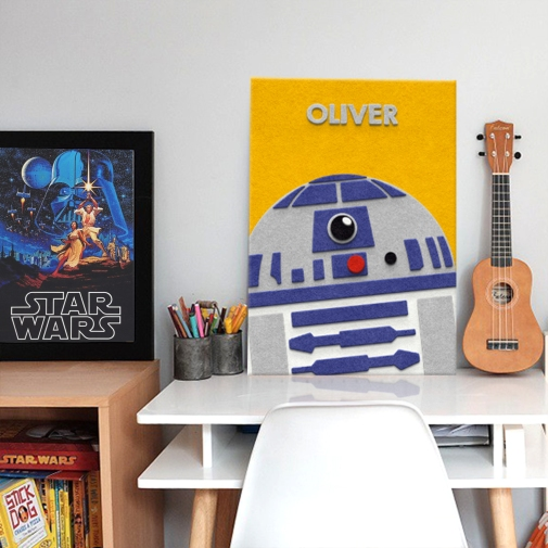R2D2 Fuzzy Felt Canvas