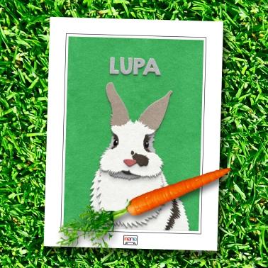 Fuzzy Bunny Paw-trait