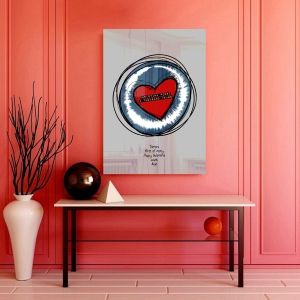 Valentine Heart Sketch Sound Wave Art acrylic