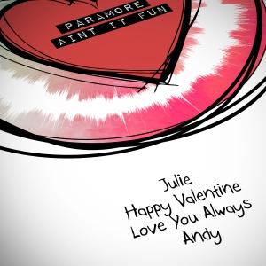 Valentine Heart Sketch Sound Wave Art close up
