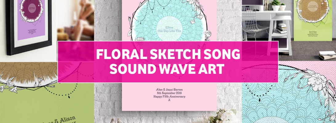 Floral Sketch Sound Wave